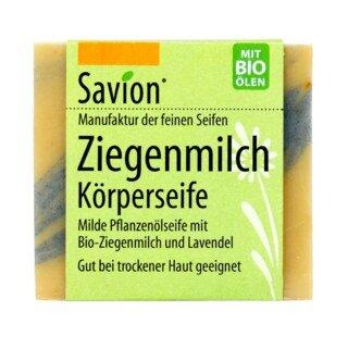 Ziegenmilch Körperseife - geeignet bei trockener Haut - Savion - 80 g/