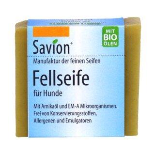 Fellseife für Hunde - mit Arnikaöl und Effektiven Mikroorganismen-Aktiviert  Savion mit EM-A - 85 g/