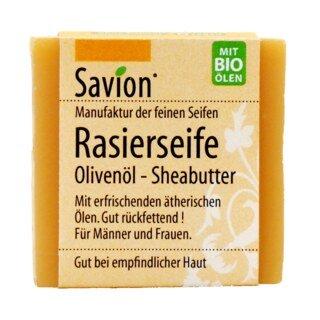 Rasierseife - Olivenöl - Sheabutter - Savion - 50 g/