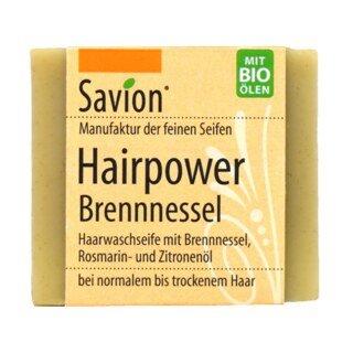 Haarseife Hairpower - für normales bis trockenes Haar - Savion - 85 g/