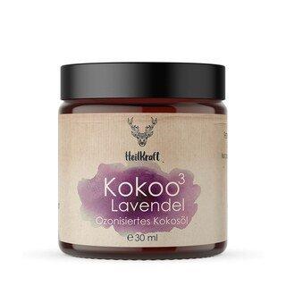 Kosmetisches Mittel - Kokoo³ Lavendel - Ozonisiertes Kokosöl + Lavendel - von Heilkraft Lebenskraft Manufaktur - 30 ml/