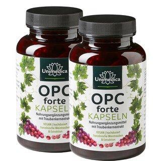 Set - 2x OPC forte - 800 mg d'extrait de pépins de raisin - 180 gélules Unimedica/