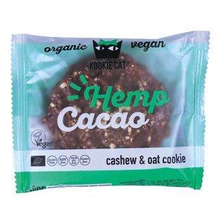 Hafer- und Cashew-Keks mit Hanf und Kakao - Kookie Cat - 1 Stück/