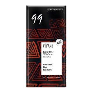 Feine Bitter 99 % Cacao Panama Bio - Vivani - 80 g/