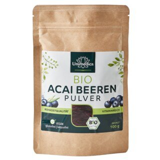 Acai Beeren Pulver Bio - 100 g - von Unimedica - Sonderangebot kurze Haltbarkeit/