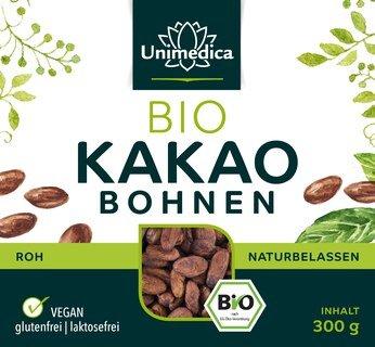 Kakaobohnen Bio - 300 g - von Unimedica - Sonderangebot kurze Haltbarkeit