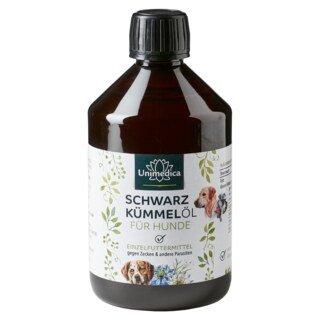 Schwarzkümmelöl für Hunde - 500 ml - von Unimedica - Sonderangebot kurze Haltbarkeit/