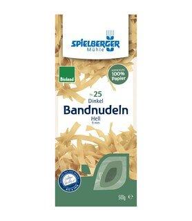 Dinkel Bandnudeln hell 9 mm Bio - Spielberger Mühle - 500 g
