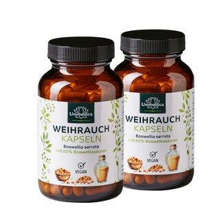 Doppelpack: 2x Weihrauch - 1600 mg pro Tagesdosis - hochdosiert - 140 Kapseln - von Unimedica/