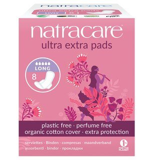 Natracare - ultra extra pads long - 8 Stück/