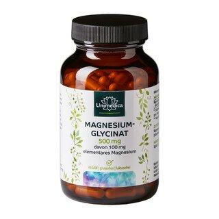 Magnesiumglycinat- mit 100 mg reinem Magnesium - 180 Kapseln - von Unimedica/