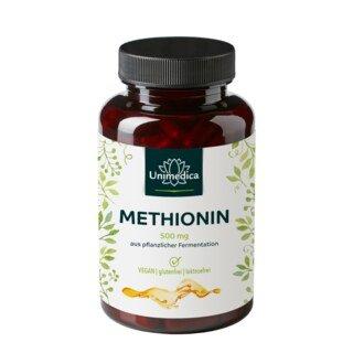 Methionin - 500 mg aus Fermentation  - 120 Kapseln  - von Unimedica/