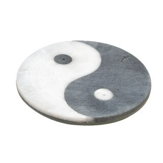 Ying-Yang - Räucherstäbchenhalter aus Marmor - ø 10 cm/