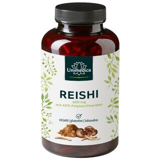 Extrait de reishi - 600 mg  40 % de polysaccharides - 180 gélules - par Unimedica/