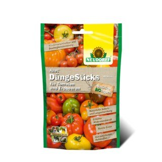 Azet Dünge Sticks für Tomaten und Erdbeeren - Neudorff - 40 Stück/