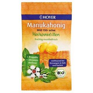 Manukahonig MGO 150+ active Halspastillen bio - HOYER - 30 g/