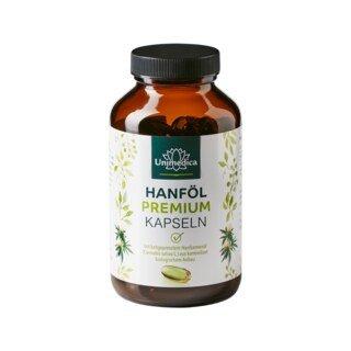 Huile de chanvre premium à l'huile de chanvre biologique - 1 000 mg - 120 gélules molles - par Unimedica/