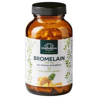 Bromelain - 520 mg - 1200 GDU/g - mit magensaftresistenten DR Caps - 120 Kapseln - von Unimedica/