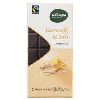 Karamell & Salz Zartbitter Schokolade bio - Naturata - 100 g/