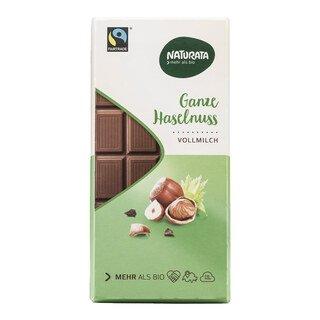 Ganze Hasselnuss Vollmilch Schokolade bio - Naturata - 100 g/
