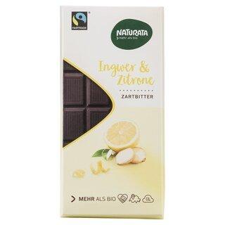 Ingwer & Zitrone Zartbitter Schokolade bio - Naturata - 100 g/