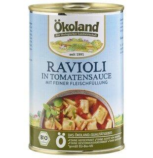 Ravioli in Tomatensauce mit feiner Fleischfüllung bio - Ökoland - 400 g