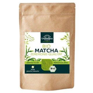 Bio Matcha Pulver - Zeremonie-Qualität - 100g - von Unimedica/