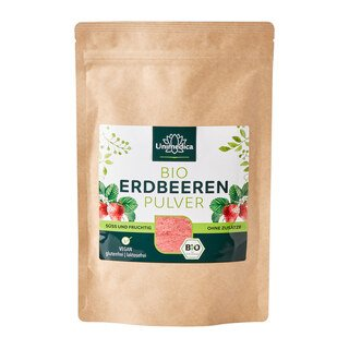 Bio Erdbeeren Pulver - naturrein - 100g - vegan -  von Unimedica/