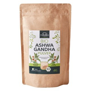 Bio Ashwagandha Pulver - 500 g - echte indische Schlafbeere - von Unimedica/