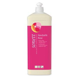 Handseife Rose - Flüssigseife-Nachfüllflasche - Sonett - 1 Liter/