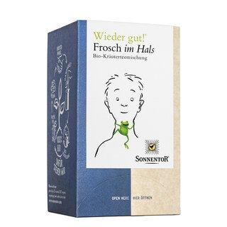 Wieder gut - Frosch im Hals Bio-Kräuterteemischung - Sonnentor - 18 Beutel/