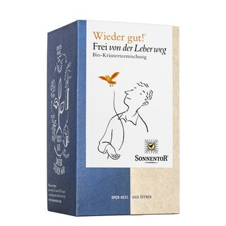 Wieder gut - Frei von der Leber weg Bio-Kräuterteemischung - Sonnentor - 18 Beutel/