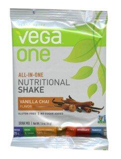 Vega One all-in-one Nutritional Shake - Vanilla Chai, Einzelbeutel - 44 g - Sonderangebot kurze Haltbarkeit - 31.07.2021 - nur solange der Vorrat reicht/