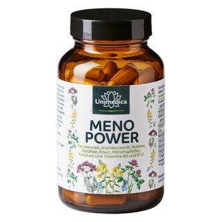 Menopower - u.a. mit Yamswurzel, Nachtkerzenöl, Eisen und B-Vitaminen - 90 Kapseln - von Unimedica/
