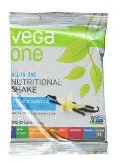 Vega One all-in-one Nutritional Shake - French Vanilla, Einzelbeutel 41 g - Sonderangebot kurze Haltbarkeit 31.08.2021/