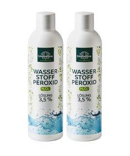 Doppelpack: 2x Wasserstoffperoxid 3,5% - 250 ml - von Unimedica/