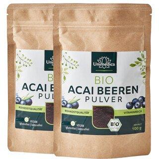 Doppelpack: 2x Bio Acai Beeren Pulver  - 100 g - von Unimedica/
