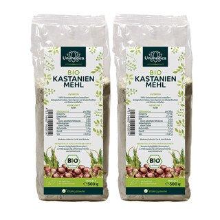 Doppelpack: 2x Bio Kastanienmehl - 500 g - von Unimedica/