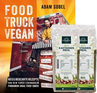 Set: Food Truck Vegan und 2x Bio Kastanienmehl - 500 g - von Unimedica/