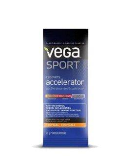 Vega Sport Recovery Accelerator - Tropical, Einzelbeutel - 27 g - Sonderangebot kurze Haltbarkeit 31.08.2021 - nur solange der Vorrat reicht/
