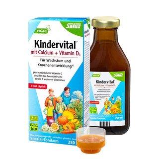 Kindervital® mit Calcium + Vitamin D3 Bio - Salus® - 250 ml/