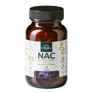 NAC - 250 mg - N-Acetyl-Cystein aus natürlicher Fermentation - 90 Kapseln - von Unimedica