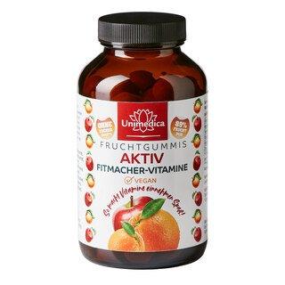 Aktiv Fitmacher-Vitamine - 100 Fruchtgummis - 89 % Frucht - von Unimedica/