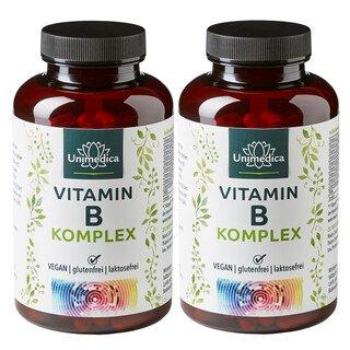 2er-Sparset: Vitamin B-Komplex - hochdosiert - 180 Kapseln - von Unimedica/