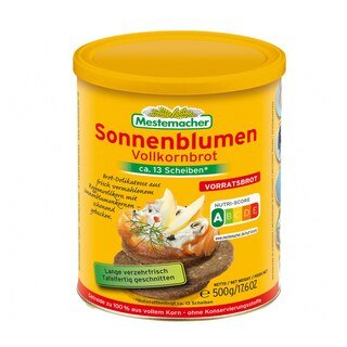 Sonnenblumen Vollkornbrot 12x 500g Dosen/