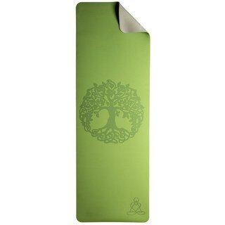 Yoga Matte hellgrün-grau mit Baum des Lebens - Berk/
