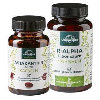 Set Acide R-Alpha-Lipoïque - 150 mg - 120 gélules et Astaxanthine - AstaPure - 12 mg - 60 gélules - d'Unimedica/