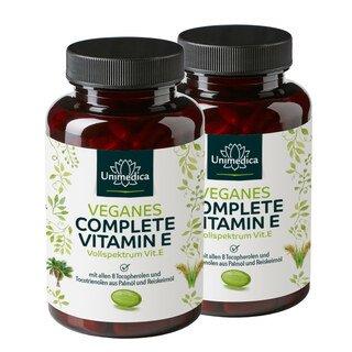 2er-Sparset: 2x Veganes Complete Vitamin E - 237 mg - 240 Kapseln - von Unimedica/