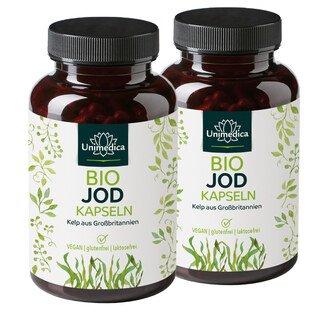 2er-Sparset: Bio Kelp Braunalgen - 150 µg natürliches Jod - 730 Kapseln - von Unimedica/