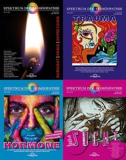 4er-Set: Spektrum der Homöopathie - Hormone, Sucht, Trauma und Burnout Panik Depression/Narayana Verlag